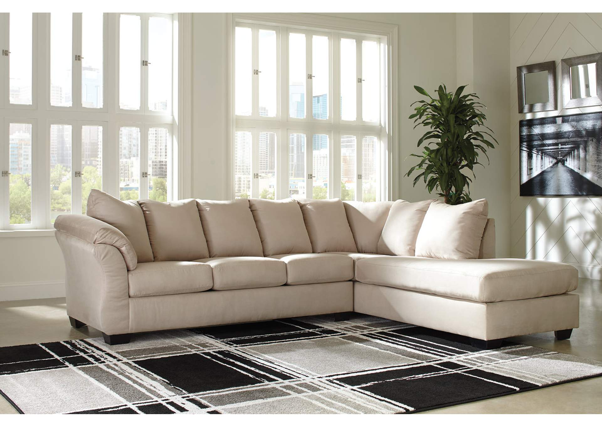 Darcy Stone RAF Chaise Sectional,Signature Design By Ashley