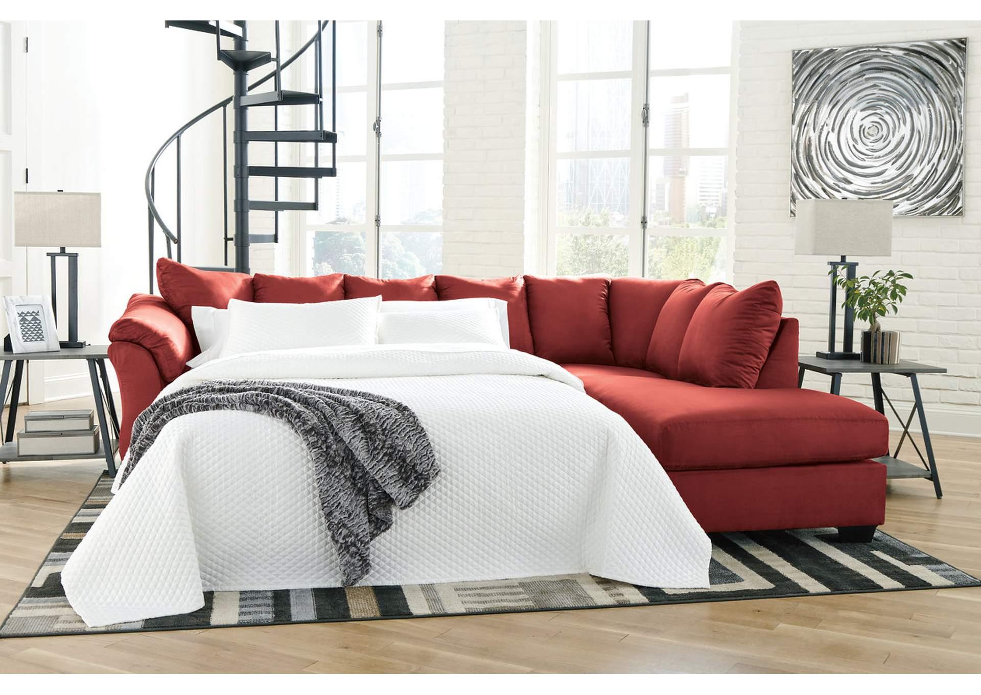 Remarkable Ivan Smith Darcy Salsa Full Sofa Sleeper W Raf Chaise Creativecarmelina Interior Chair Design Creativecarmelinacom
