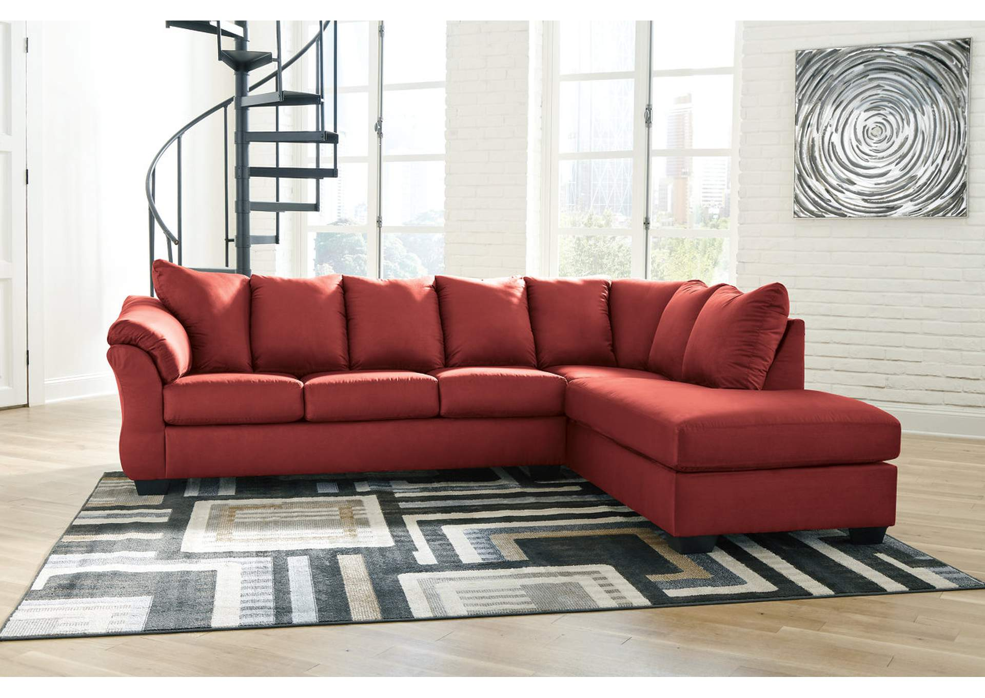 Darcy Salsa RAF Chaise Sectional,Signature Design By Ashley
