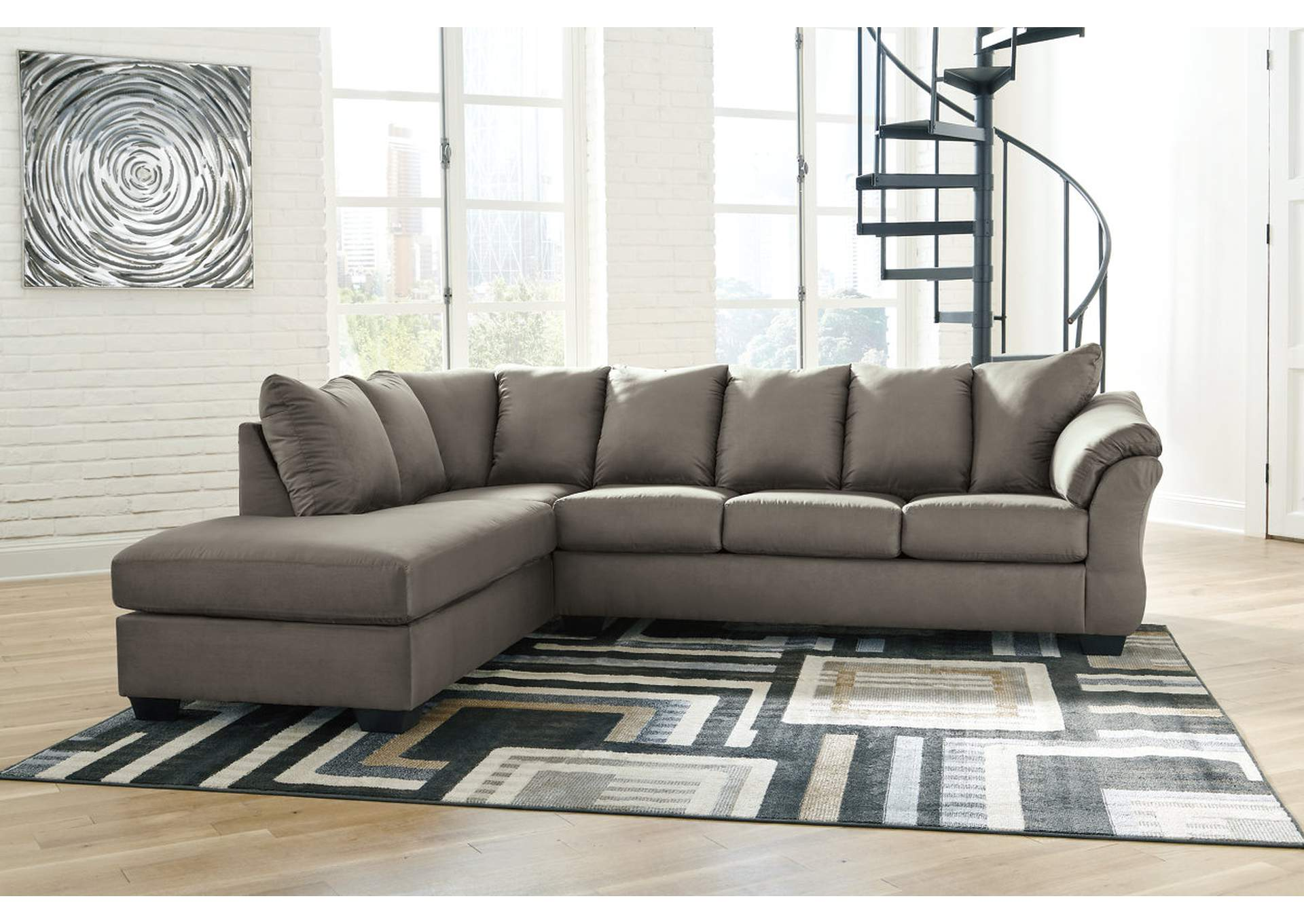 Darcy Cobblestone LAF Chaise Sectional,Signature Design By Ashley