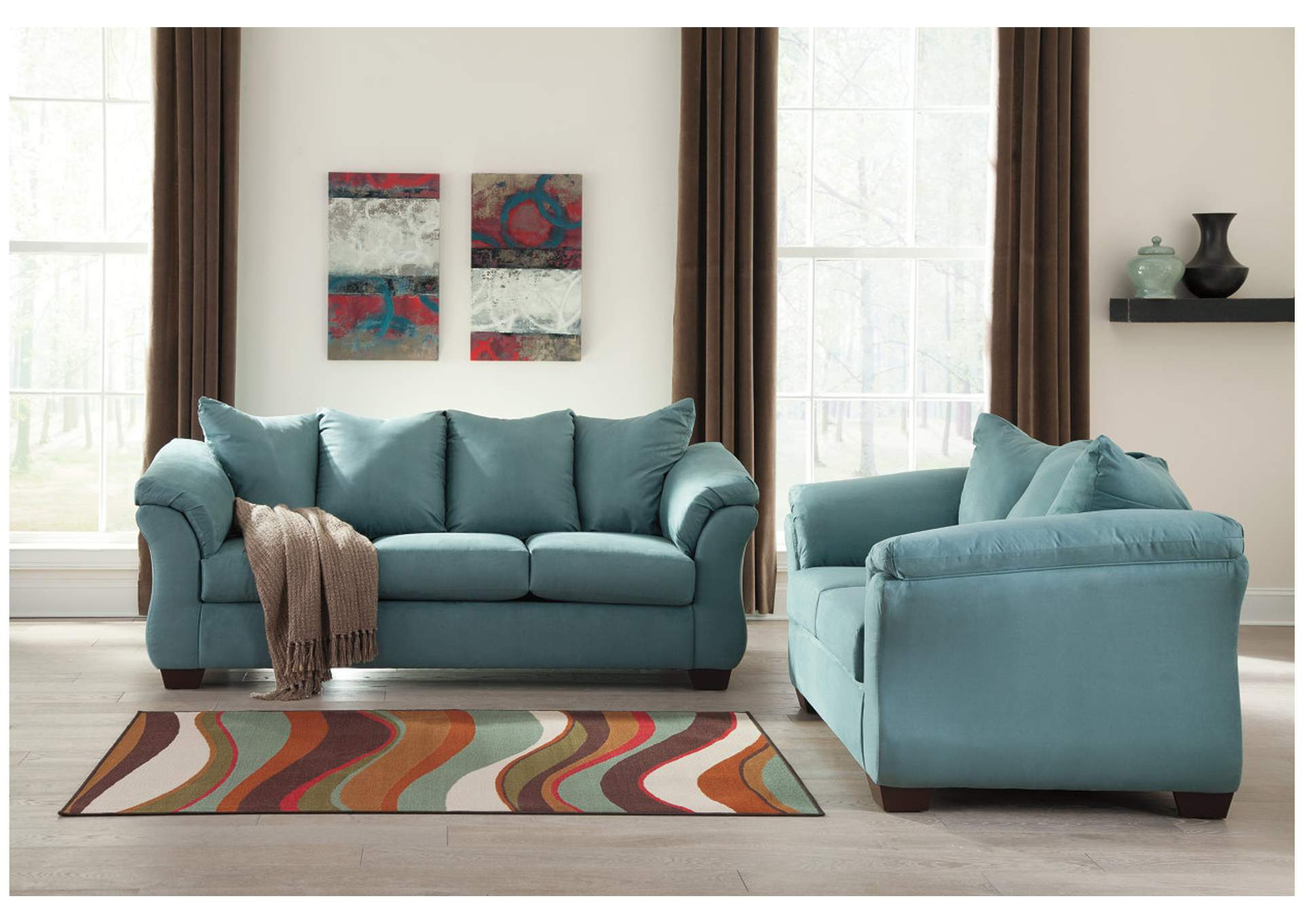 Darcy Sky Sofa & Loveseat,Signature Design By Ashley