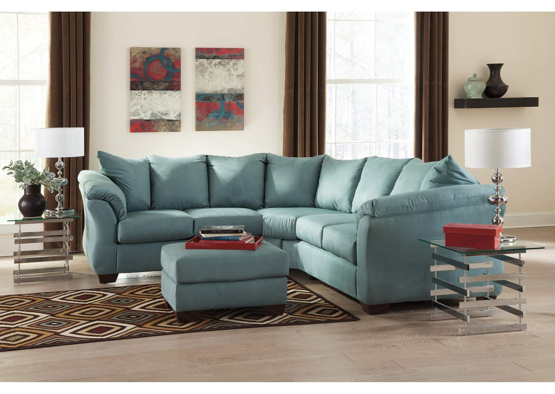 Darcy Sky Corner Sectional,Signature Design By Ashley