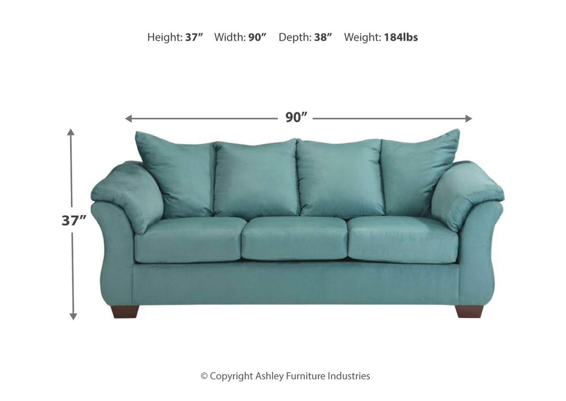 Darcy Sky Full Sofa Sleeper,Signature Design By Ashley