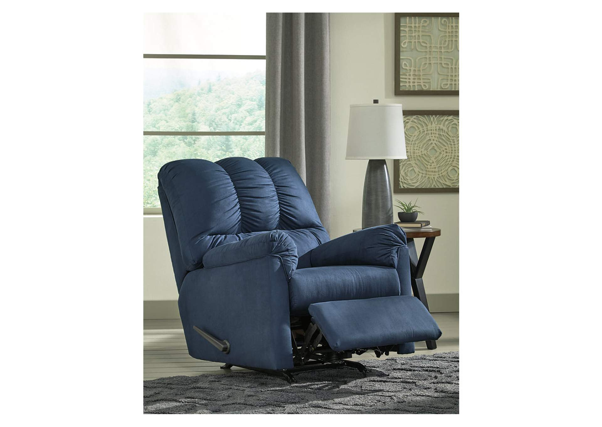 Darcy Blue Rocker Recliner,Signature Design By Ashley