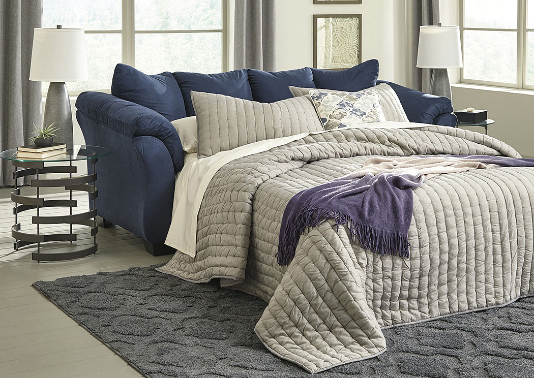 Darcy Blue Full Sofa Sleeper,Signature Design By Ashley