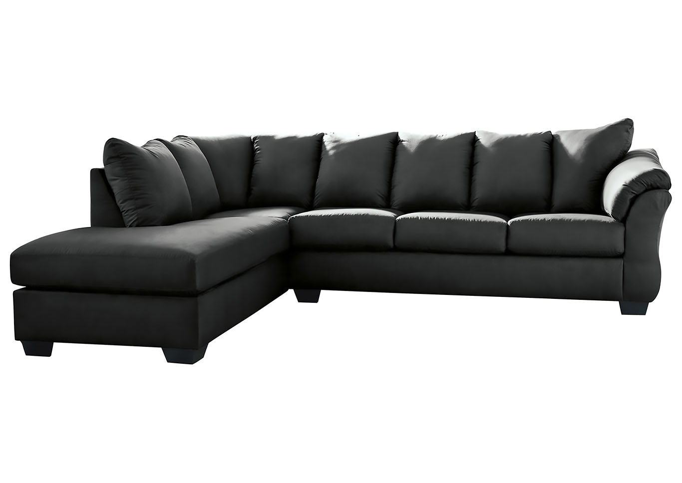 Darcy Black LAF Chaise Sectional,Signature Design By Ashley