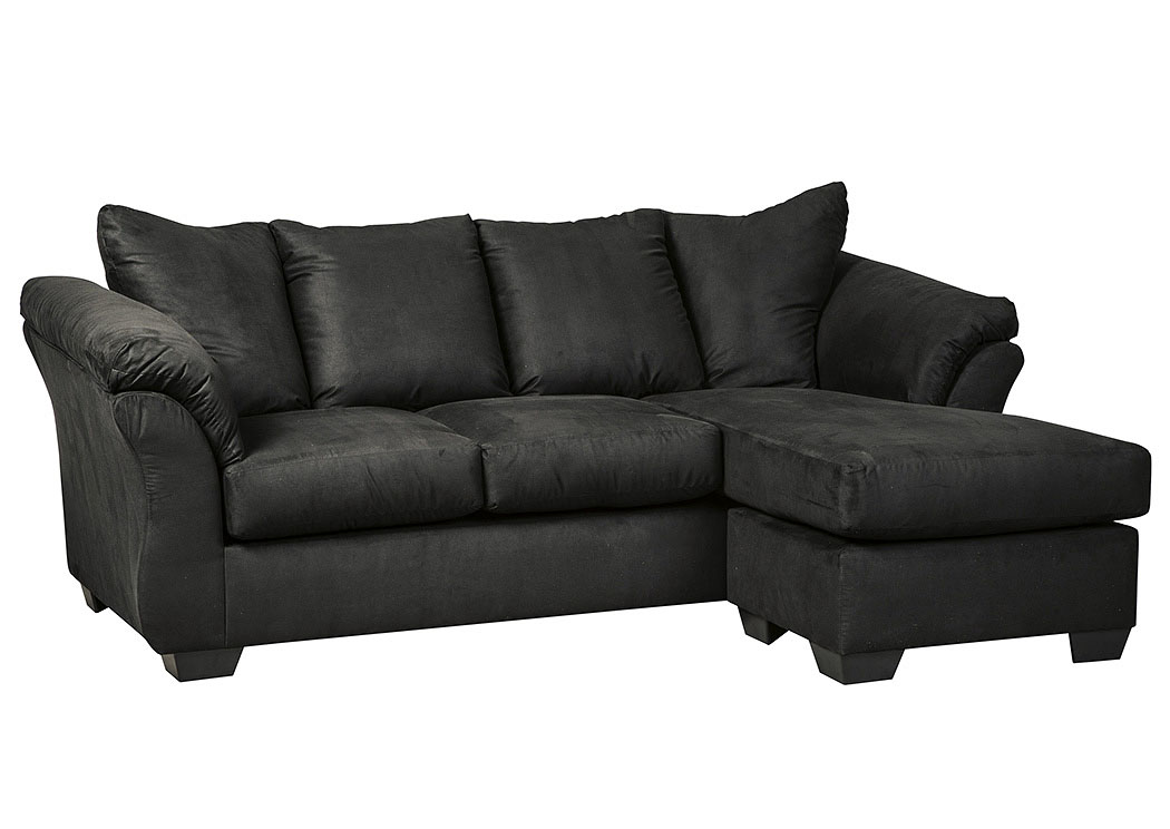 Bedroom sofa darcy black sofa chaise for Black sectional with chaise