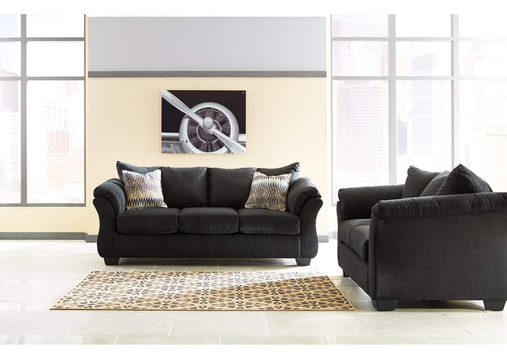 Darcy Black Loveseat,Signature Design By Ashley