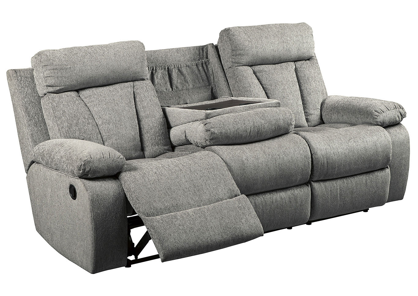 Mitchiner Fog Reclining Sofa w/Drop Down Table,Signature Design By Ashley