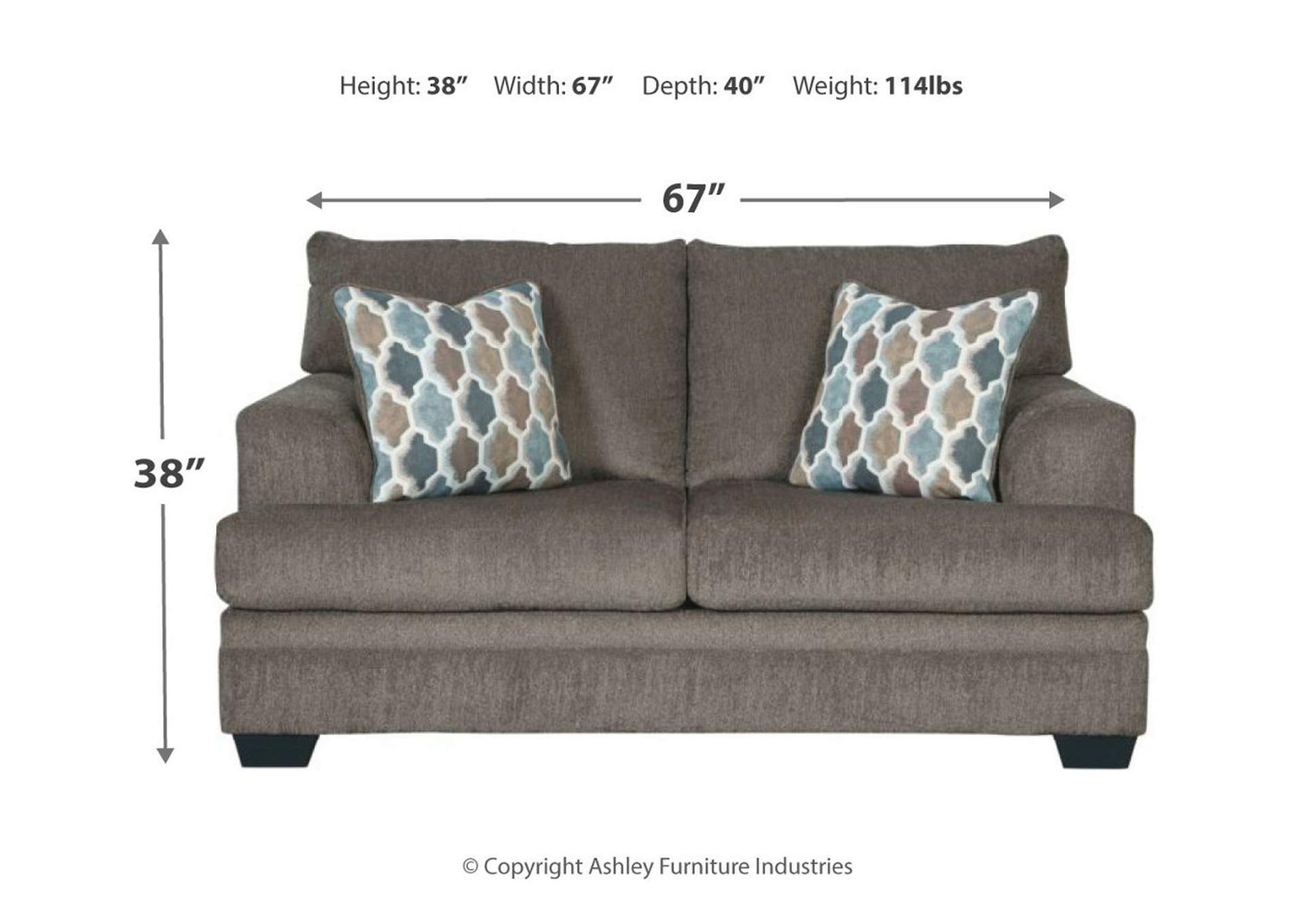 Dorsten Slate Loveseat,Signature Design By Ashley
