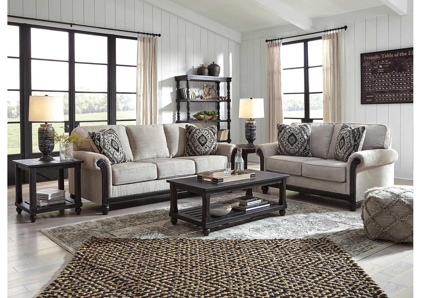Benbrook Ash Sofa and Loveseat,Signature Design By Ashley