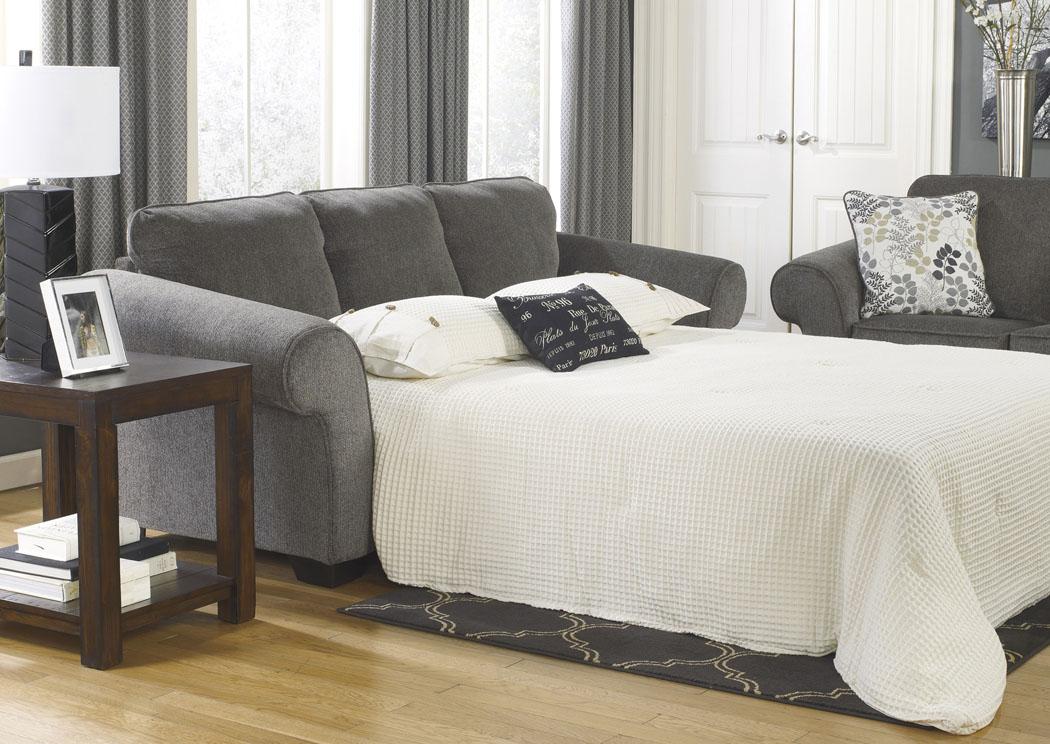 American Furniture Galleries Makonnen Charcoal Queen Sofa Sleeper