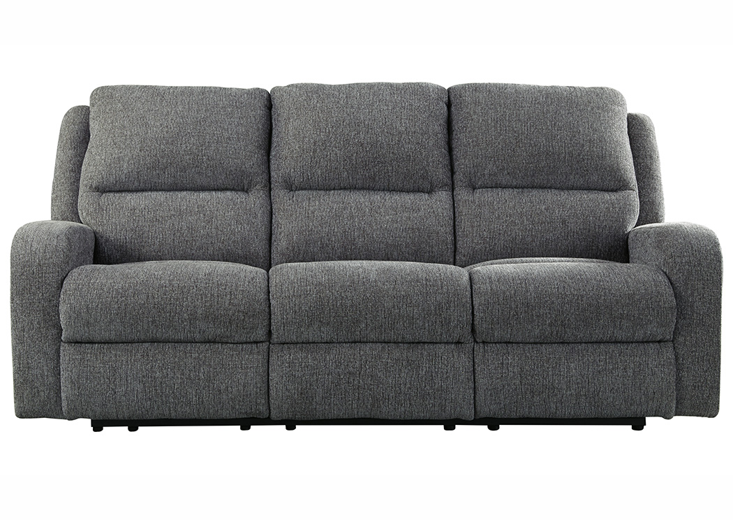 Krismen Charcoal Power Reclining Sofa,Signature Design By Ashley