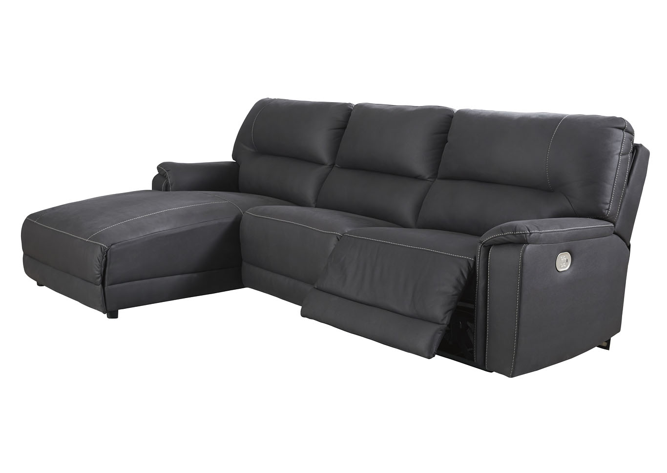 Henefer Midnight Left-Arm Facing Power Chaise,Signature Design By Ashley