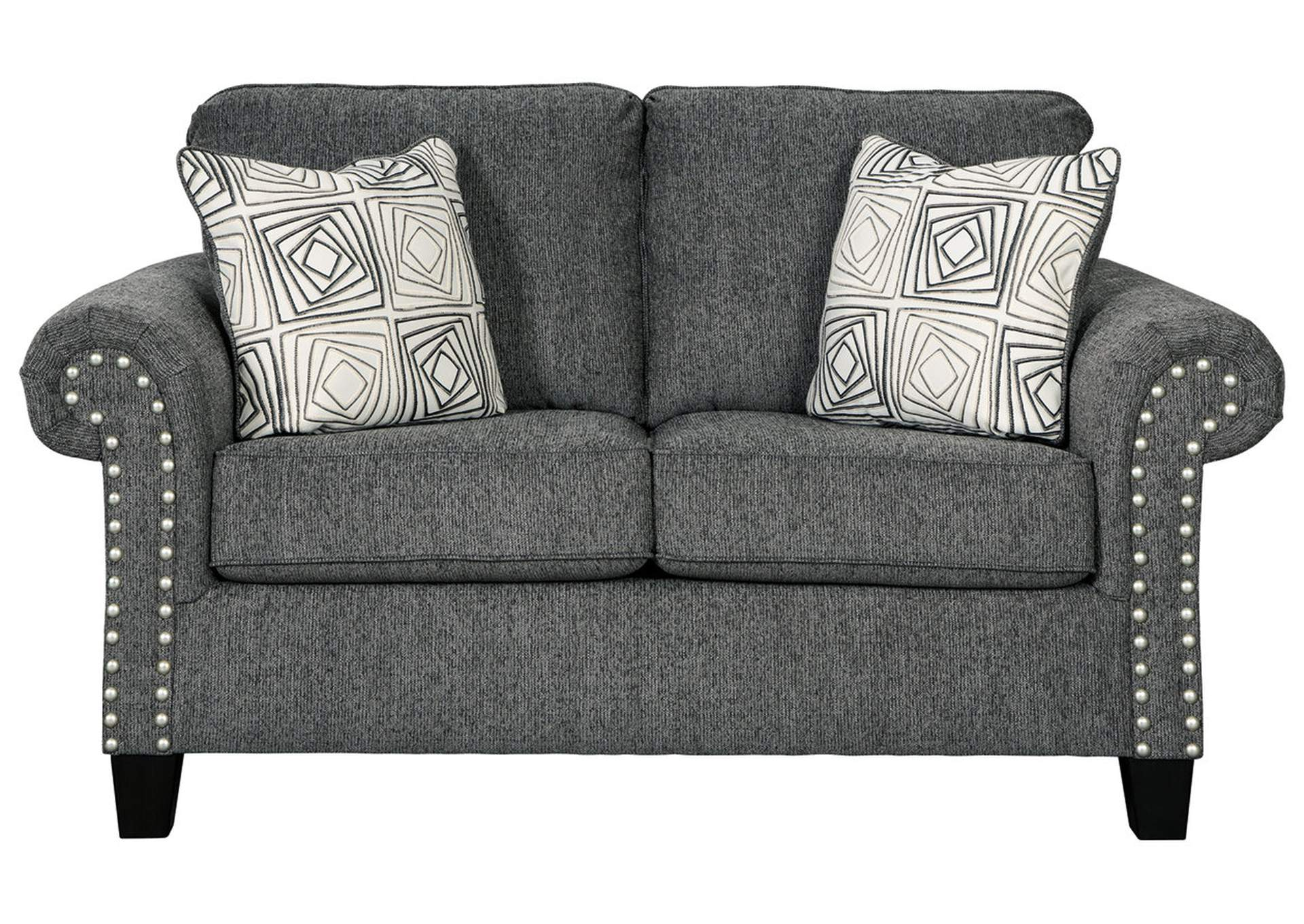 Agleno Charcoal Loveseat,Benchcraft