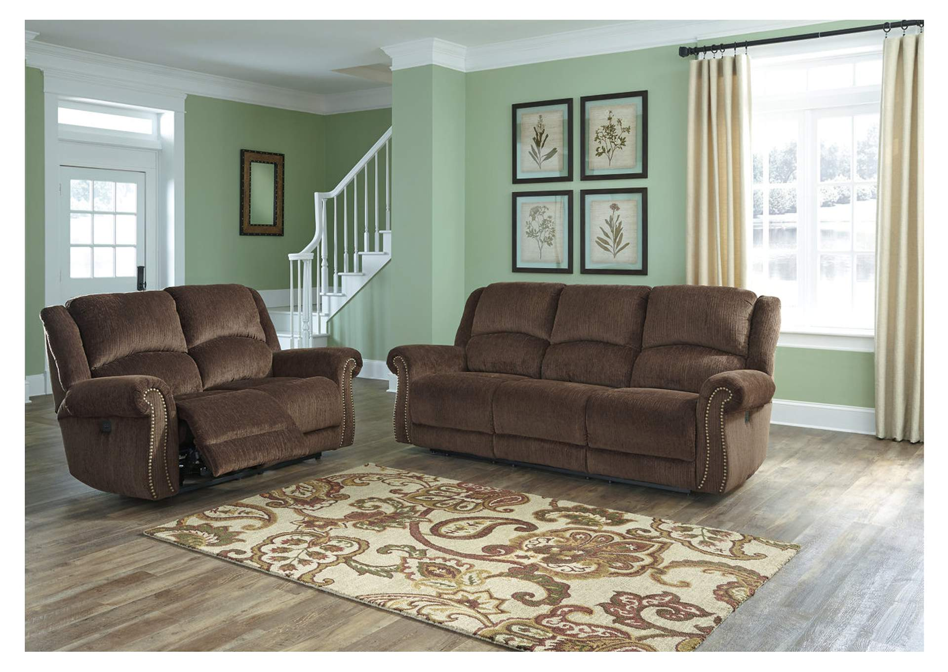 Goodlow Chocolate Power Reclining Sofa U0026 Loveseat,Signature Design By Ashley