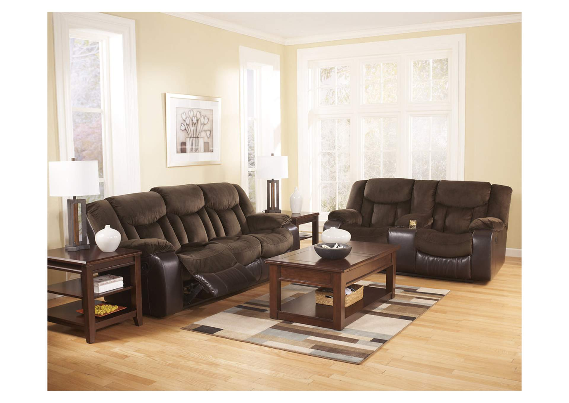 Great Tafton Java Reclining Sofa U0026 Loveseat