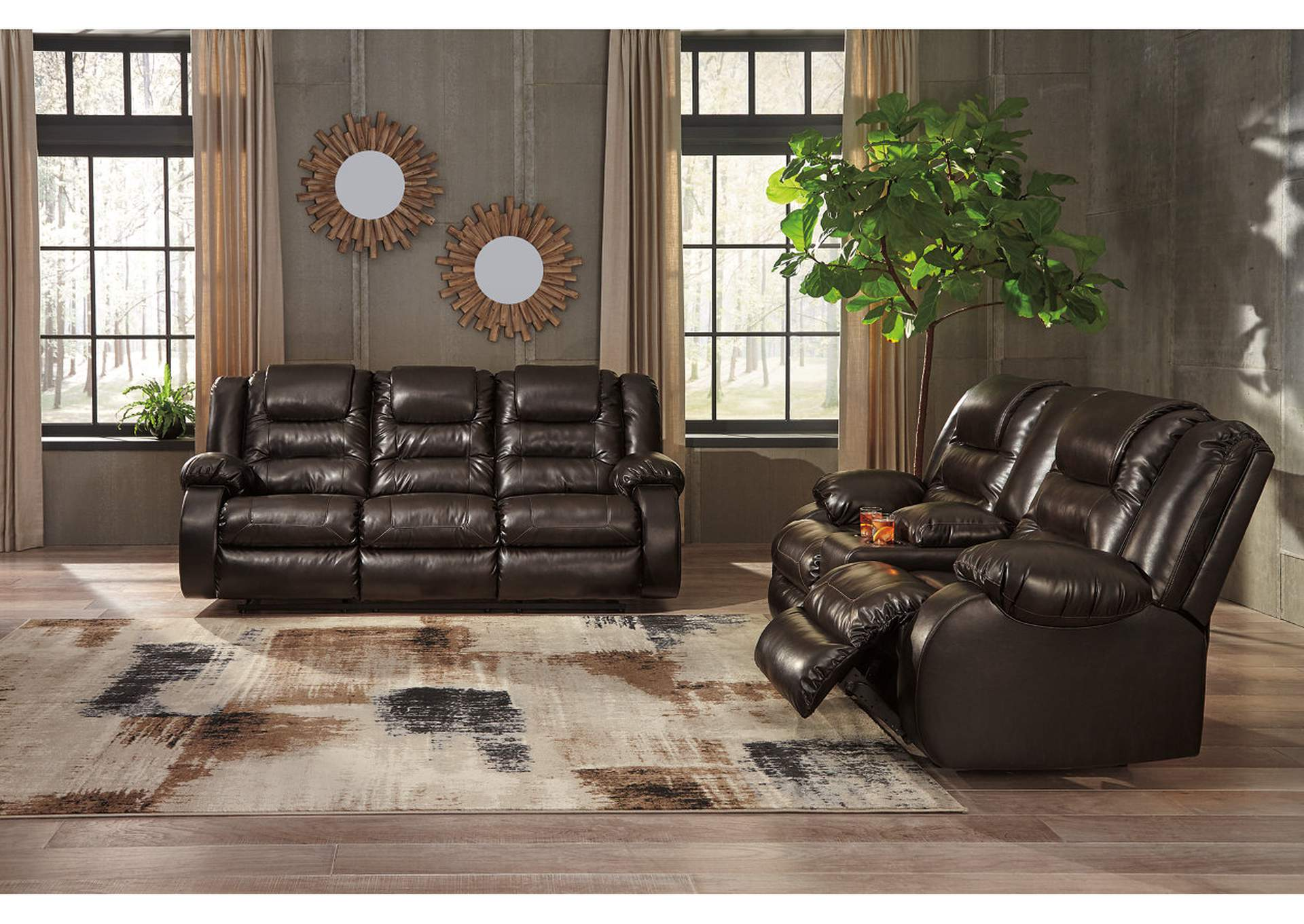 Vacherie Chocolate Reclining Sofa,Signature Design By Ashley