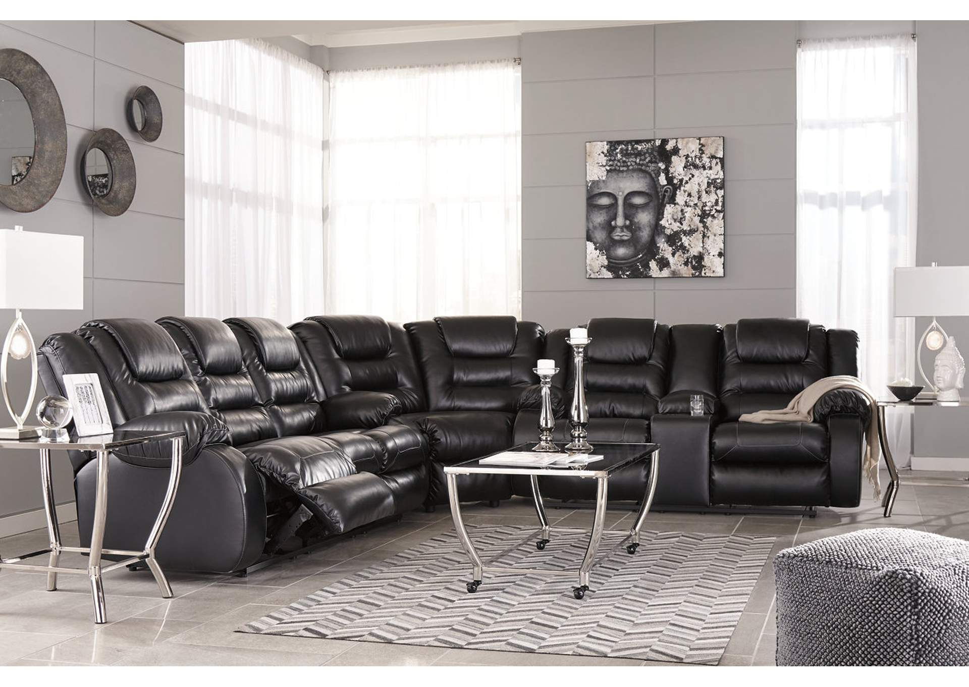Vacherie Black Reclining Sofa,Signature Design By Ashley