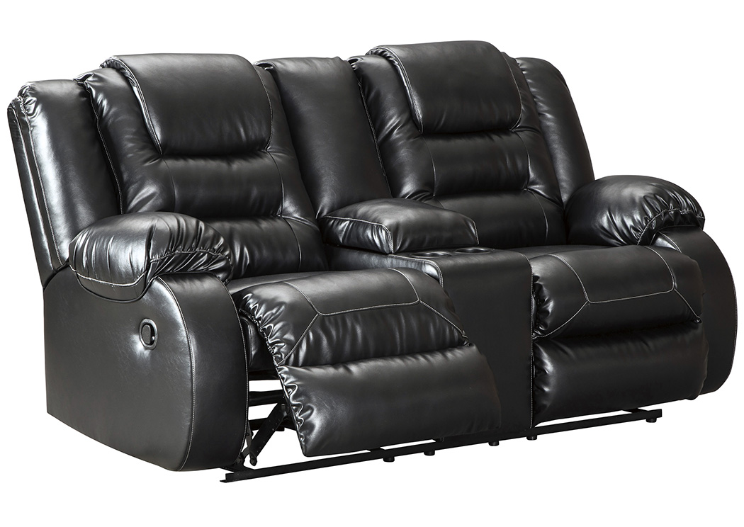 Vacherie Black Double Reclining Loveseat,Signature Design By Ashley