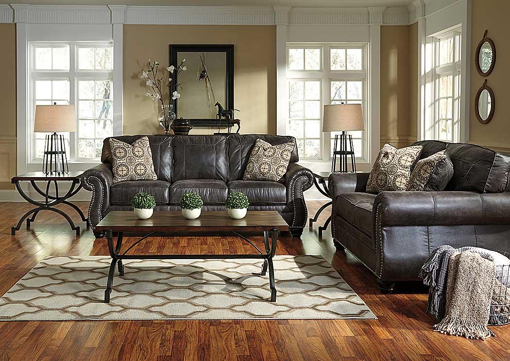 Thomas Son Furniture Breville Charcoal Sofa Loveseat