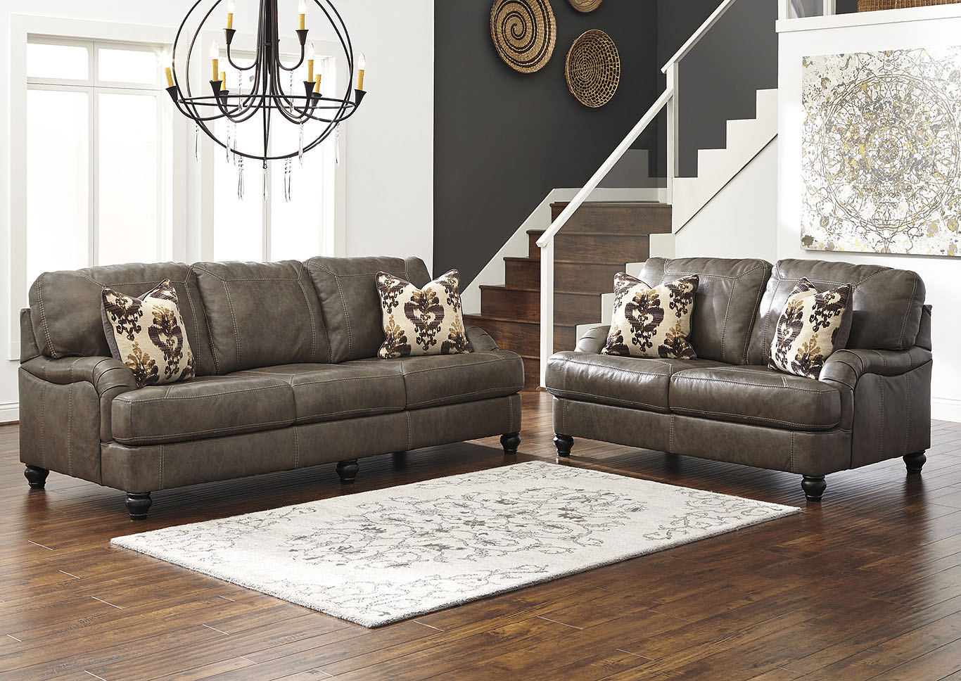 Kannerdy Quarry Sofa and Loveseat,Signature Design By Ashley