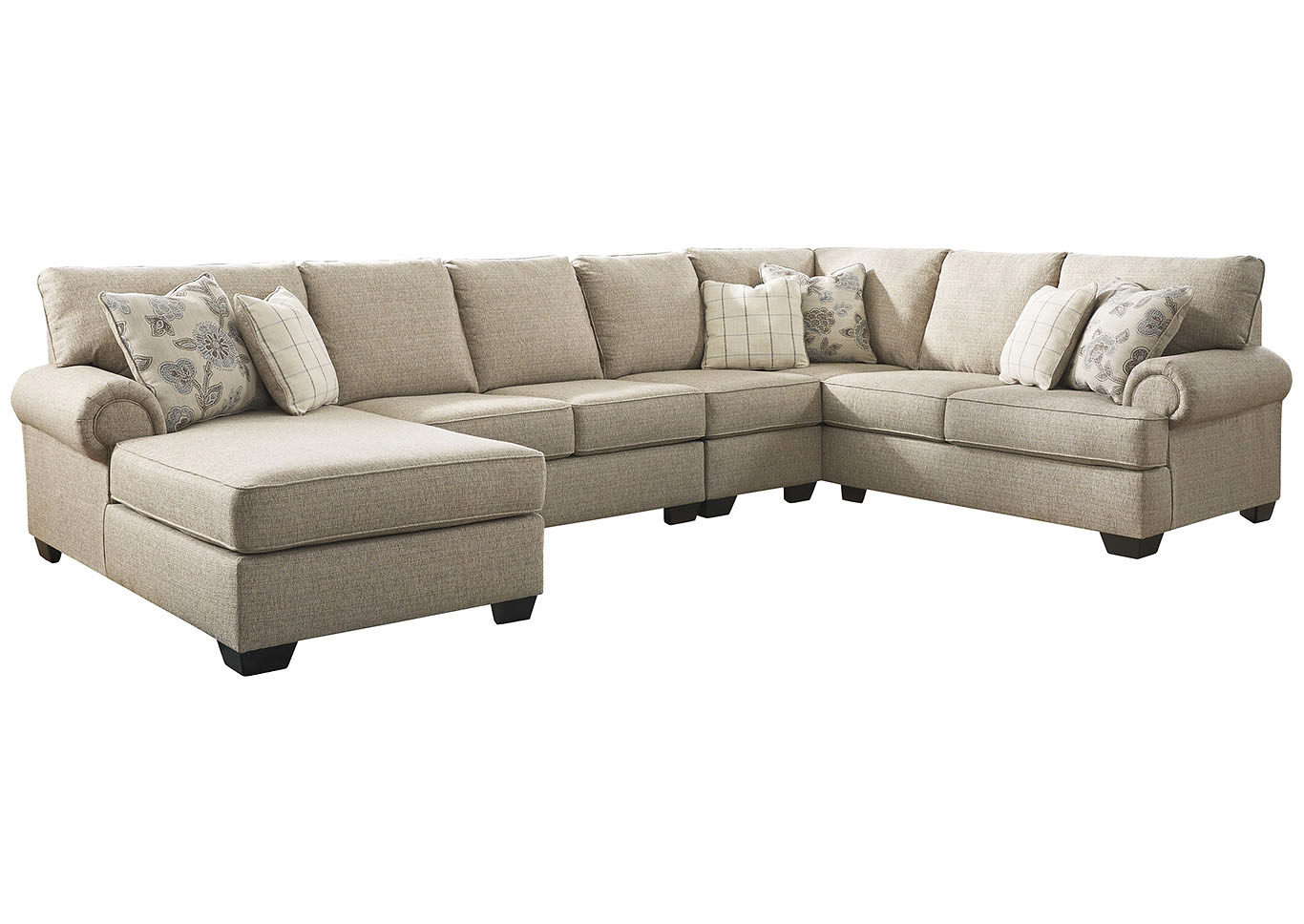 Adams Home Furnishings Baceno Hemp 4 Piece Sectional With Chaise