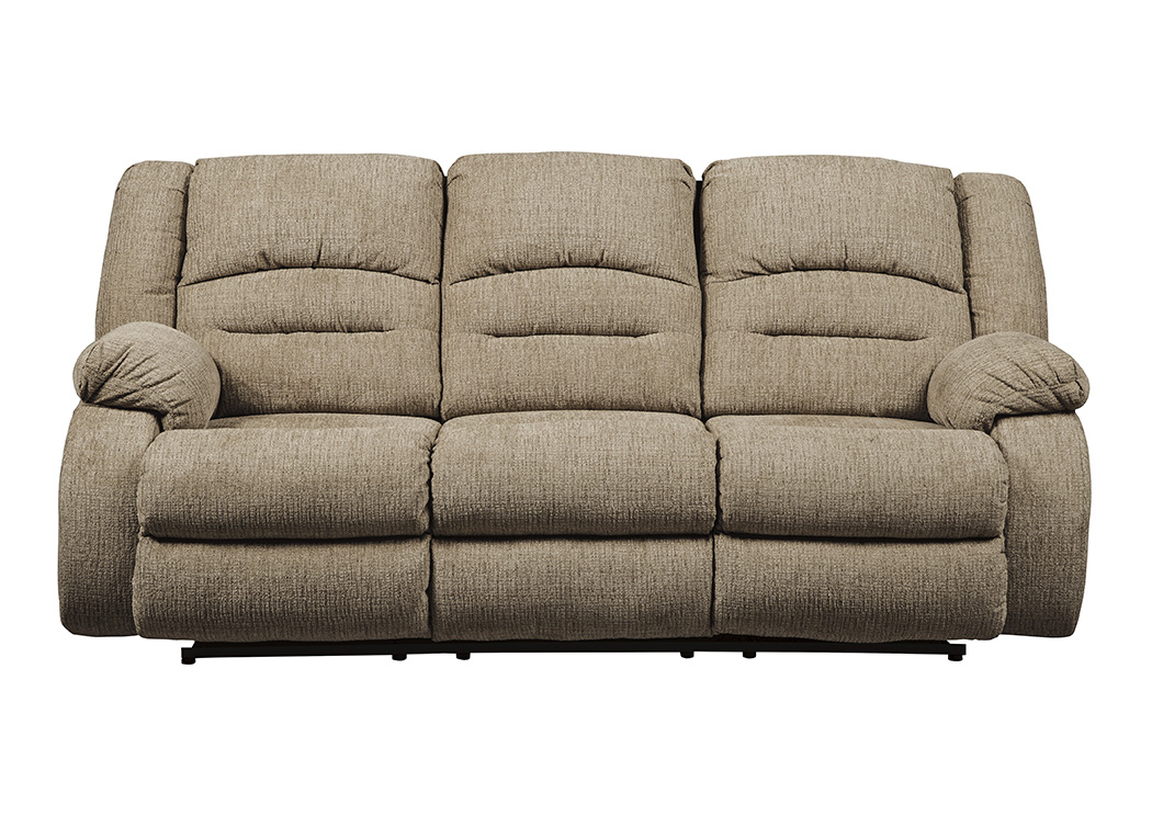 Labarre Mocha Power Reclining Sofa w/Adjustable Headrest,Signature Design By Ashley