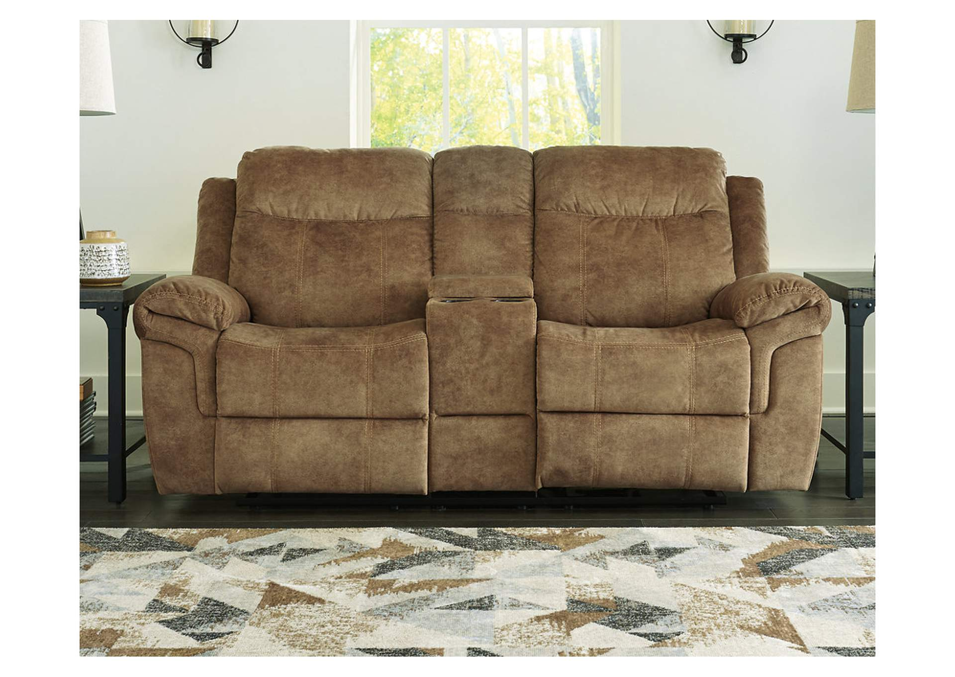 Huddle-Up Nutmeg Reclining Loveseat with Console,Signature Design By Ashley
