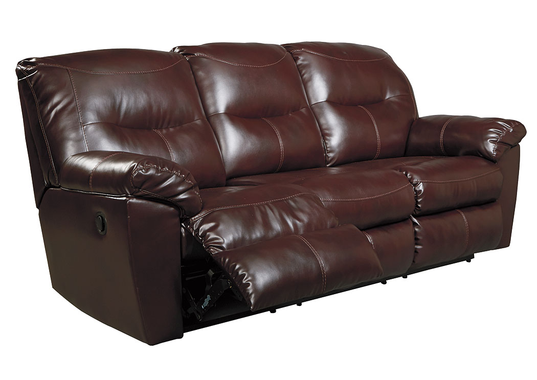 Kilzer DuraBlend Mahogany Reclining Sofa,Signature Design By Ashley