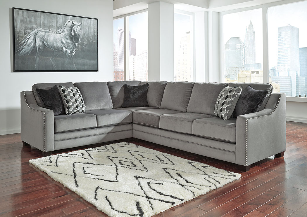 Bicknell Charcoal Left Facing Sofa Sectional,Benchcraft