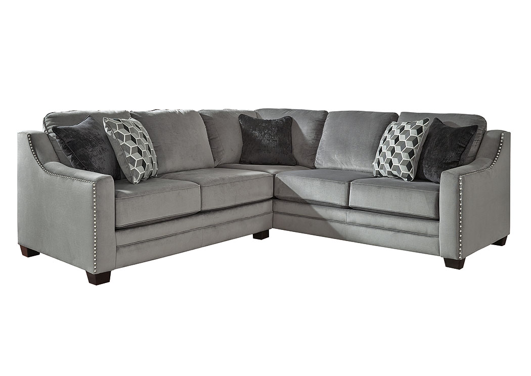 Bicknell Charcoal Left Facing Loveseat Sofa Sectional,Benchcraft