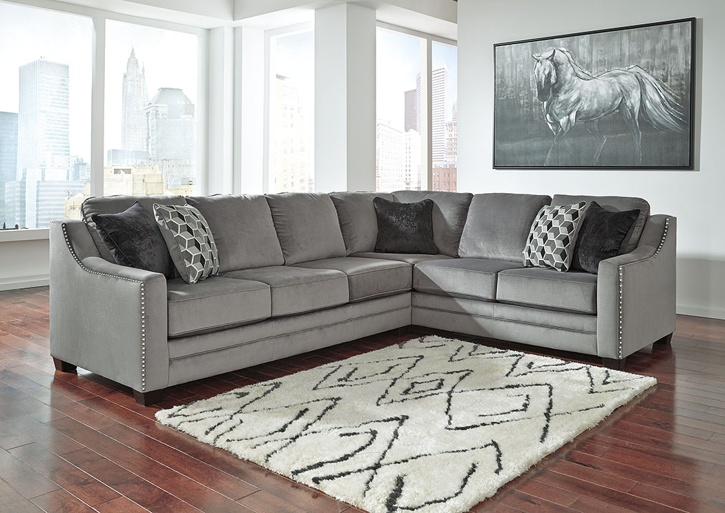Bicknell Charcoal Right Facing Sofa Sectional,Benchcraft
