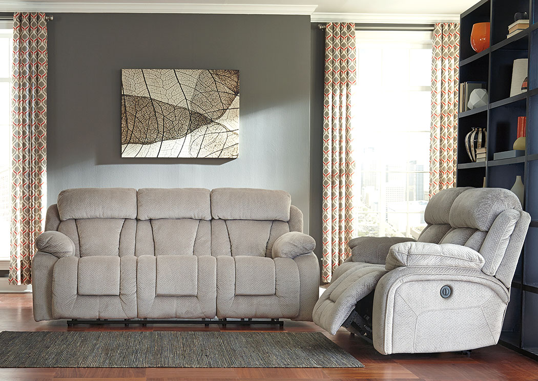 Stricklin Pebble Reclining Sofa and Loveseat,Signature Design By Ashley