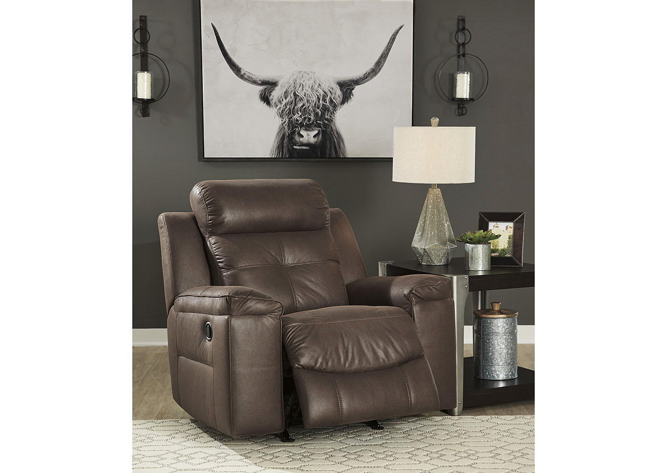 Jesolo Coffee Rocker Recliner,Signature Design By Ashley