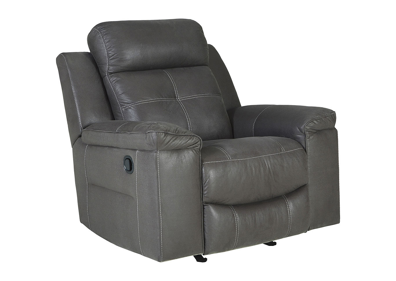 Jesolo Dark Gray Rocker Recliner,Signature Design By Ashley