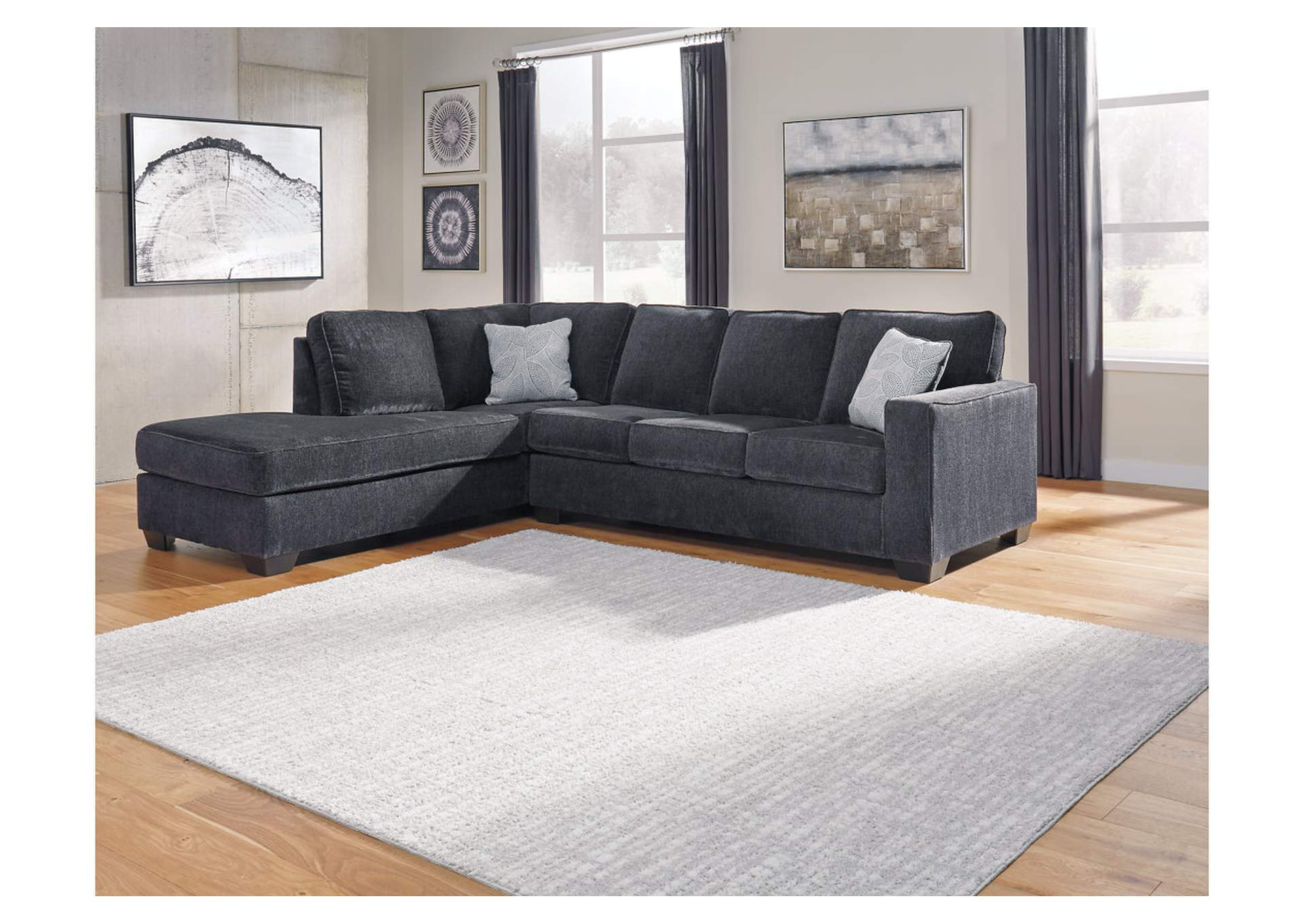 Altari Slate Right-Arm Facing Chaise Sectional,Signature Design By Ashley