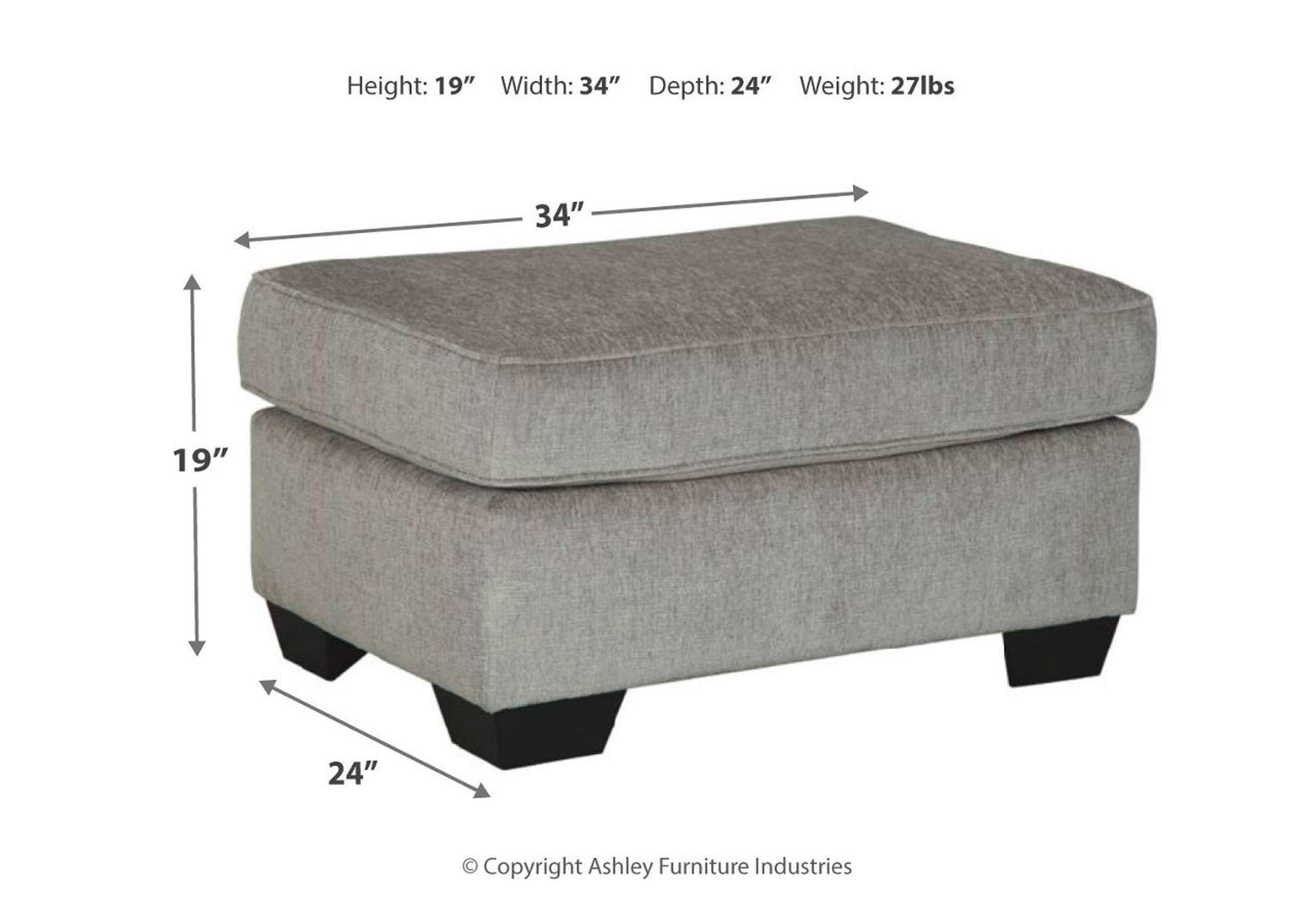 Altari Alloy Ottoman,Signature Design By Ashley