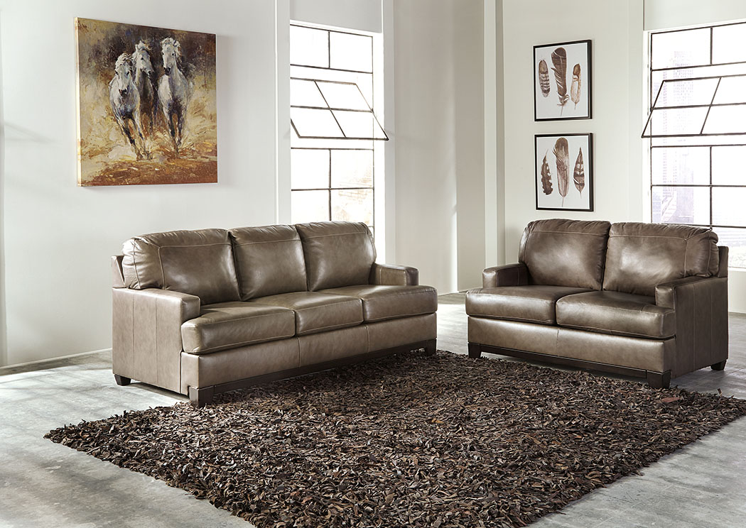 Derwood Pewter Sofa & Loveseat,Signature Design By Ashley