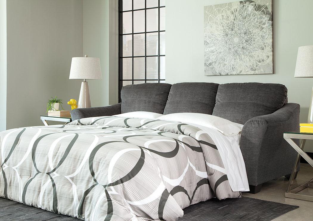 Cal TV Inc El Paso TX Braxlin Charcoal Queen Sofa Chaise Sleeper