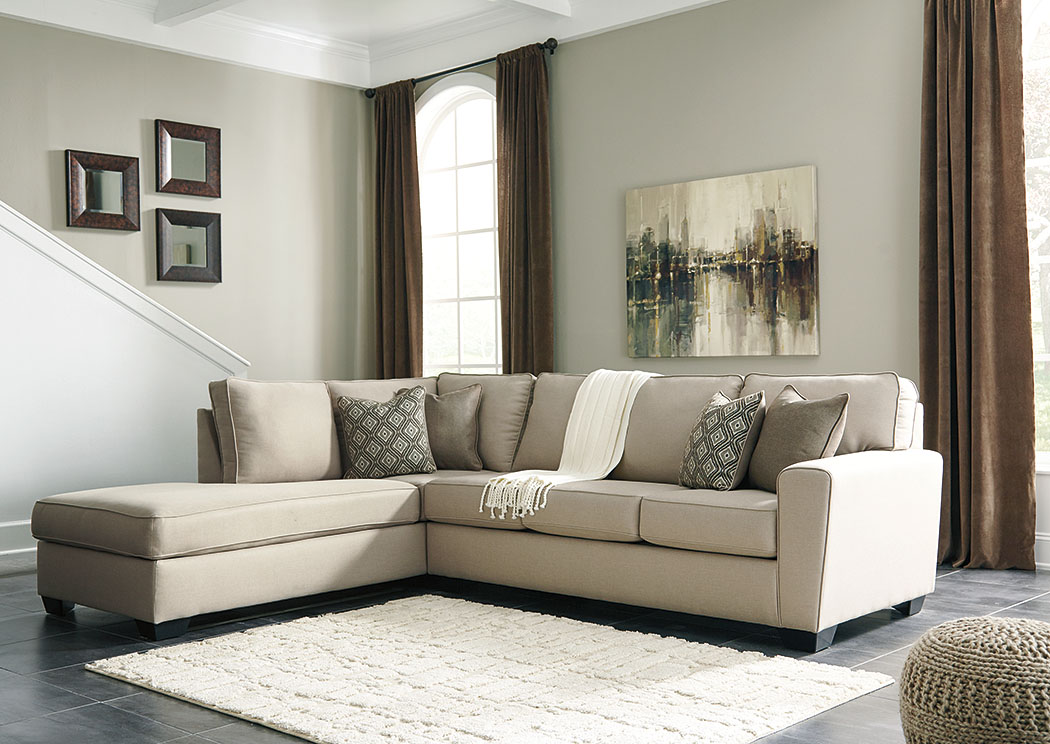 Calicho Ecru Left Facing Corner Chaise Sofa Sectional,Benchcraft
