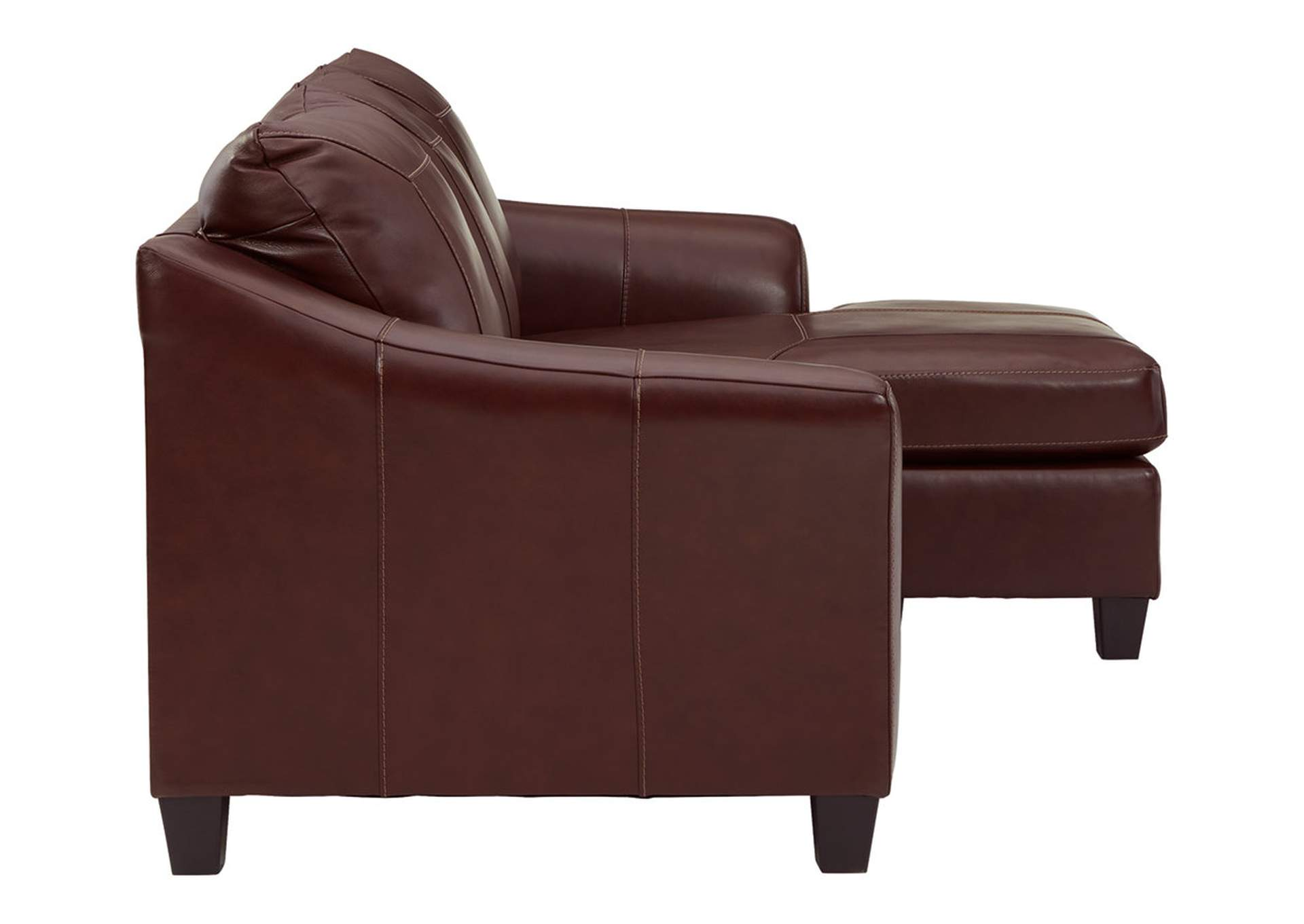 Fortney Mahogany Sofa Chaise,Signature Design By Ashley
