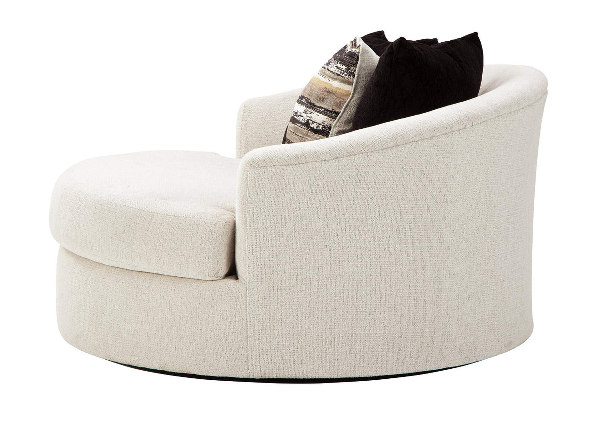 Cambri Oversized Round Swivel Chair,Ashley