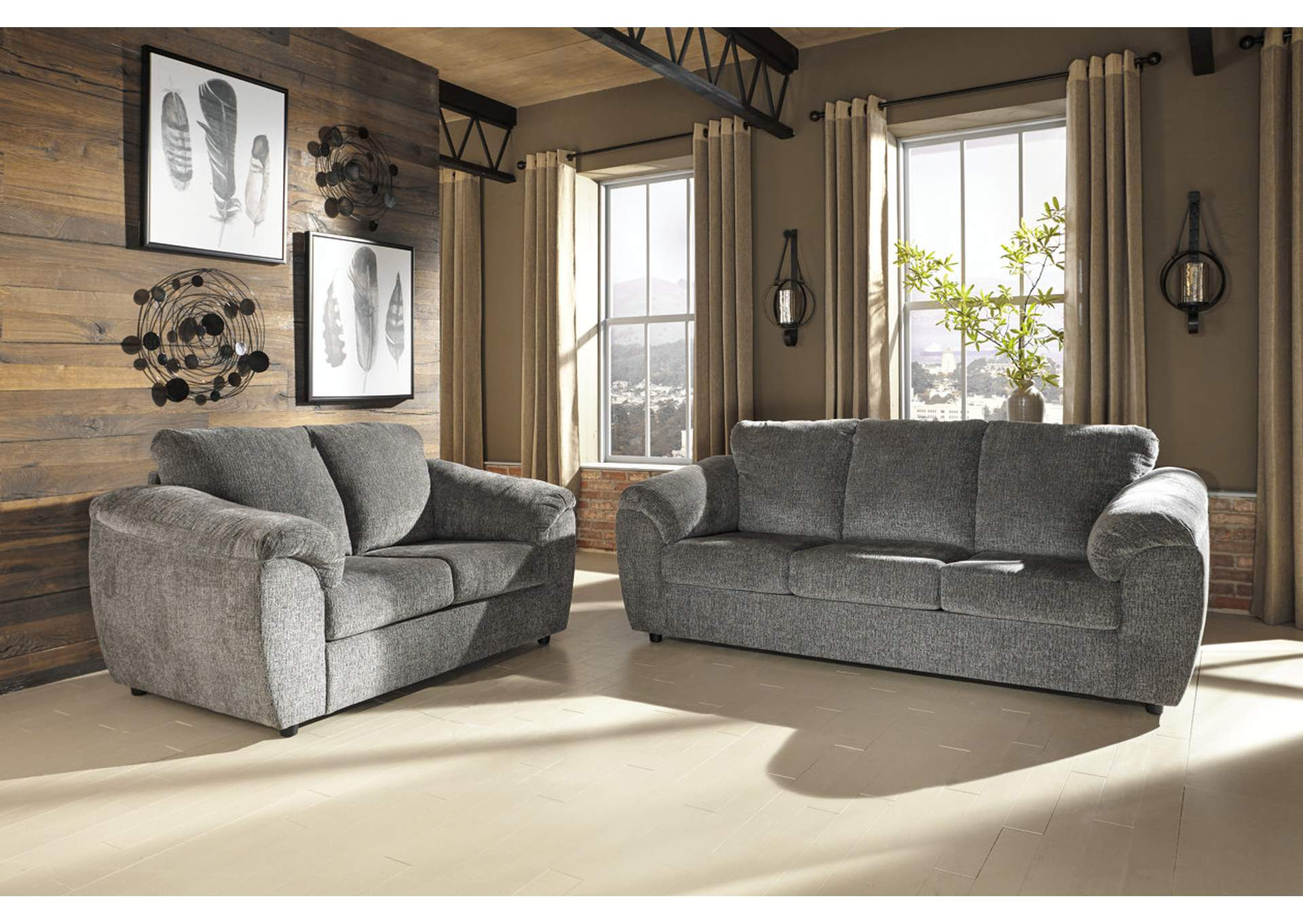 Merveilleux Azaline Slate Sofa U0026 Loveseat,Signature Design By Ashley