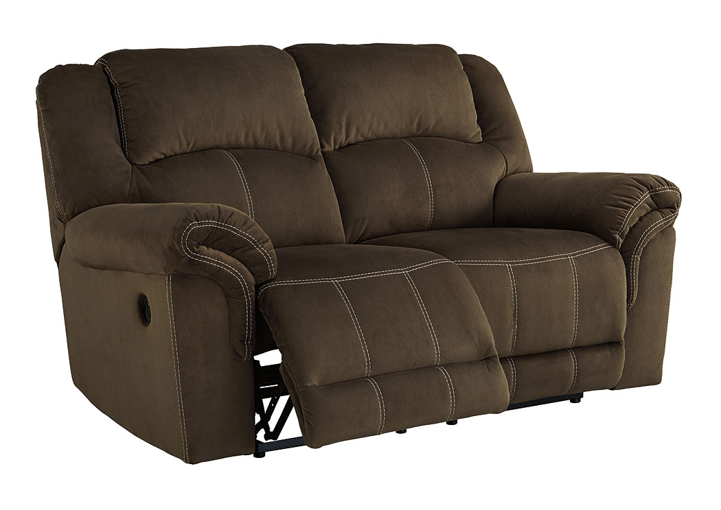 Danto Furniture Quinnlyn Coffee Reclining Power Loveseat