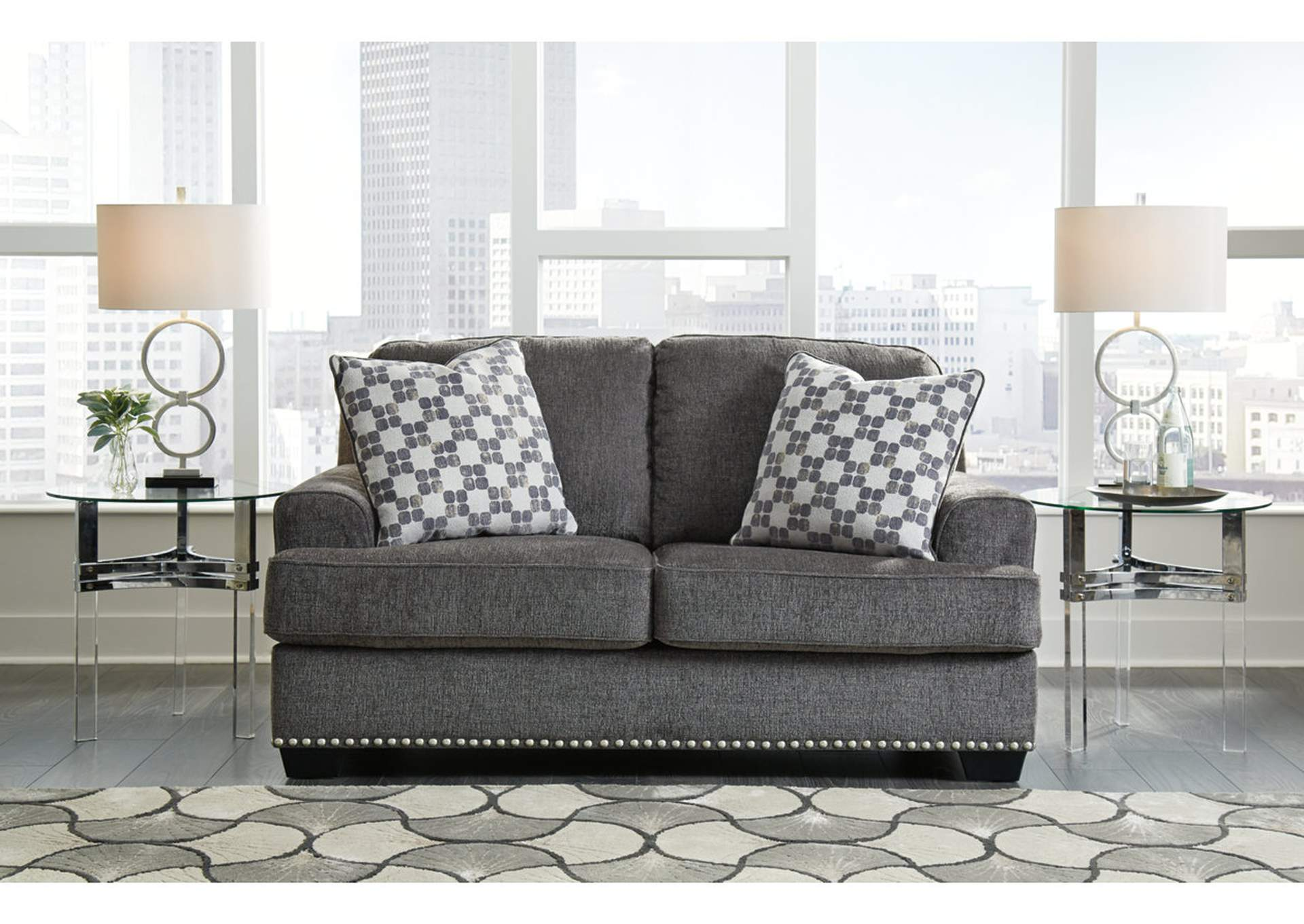 Locklin Carbon Loveseat w/2 Pillows,Signature Design By Ashley