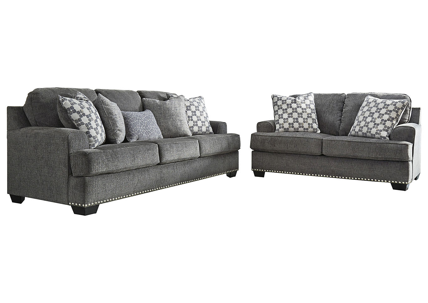 Locklin Carbon Sofa & Loveseat w/7 Pillows,Signature Design By Ashley