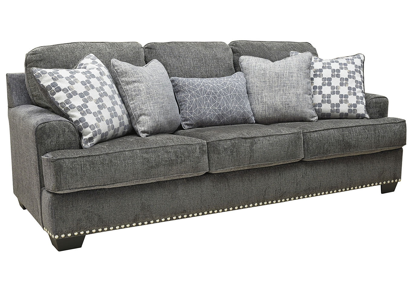 Locklin Carbon Sofa w/5 Pillows,Signature Design By Ashley