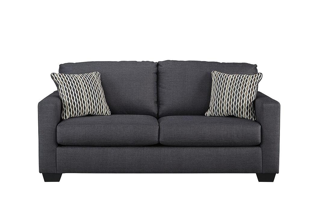 Affordable Furniture Houston Bavello Indigo Sofa