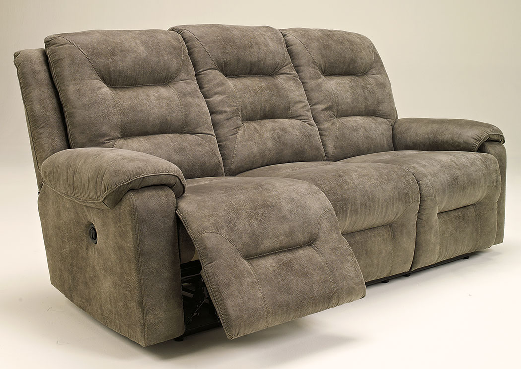 Rotation Smoke Reclining Sofa,Signature Design By Ashley